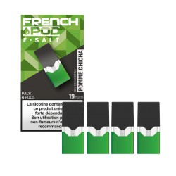 12x Cartouches FRENCH POD POMME CHICHA