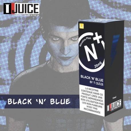 10x T-JUICE Black N Blue NIC SALT 10ML