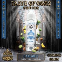 2x ILLUSIONS VAPOR Taste of Gods Legacy 50ML