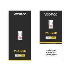 Résistances VOOPOO Mesh PnP VM4 0.6Ω pour Vinci Pod (5pcs)