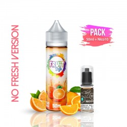 2x PACK ORANGE NO FRESH 50ML + Nico 10ML