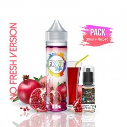 2x PACK GRENADINE NO FRESH 50ML + Nico 10ML